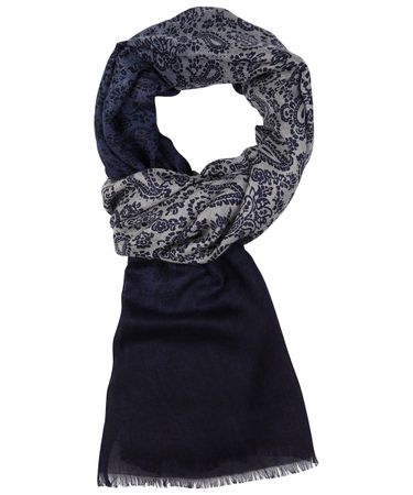Klassiek navy modal shawl