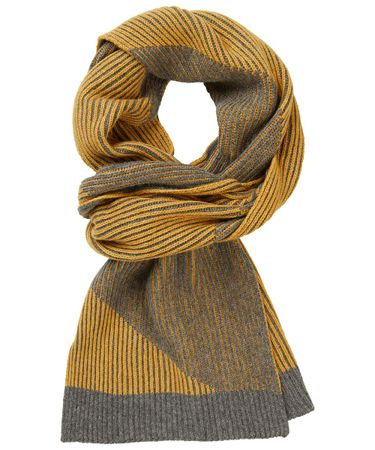 SCARF KNITTED GREY MAIS