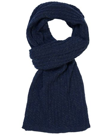 SCARF KNITTED NAVY