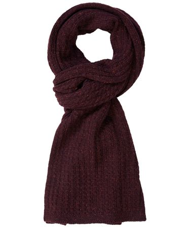 SCARF KNITTED BORDEAUX