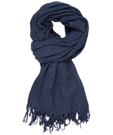 SCARF WOVEN NAVY
