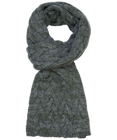 SCARF KNITTED MILITARY GREY