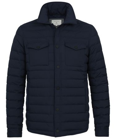 Navy kwalitatief shirt jacket