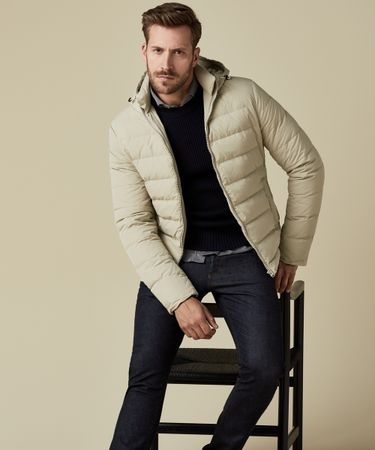 OUTERWEAR DOWN JACKET BEIGE