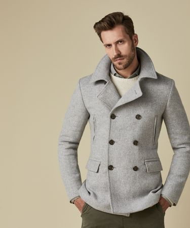 OUTERWEAR PEACOAT L.GREY
