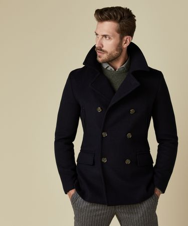 OUTERWEAR PEACOAT NAVY