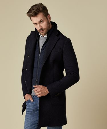 OUTERWEAR WOOL COAT NAVY