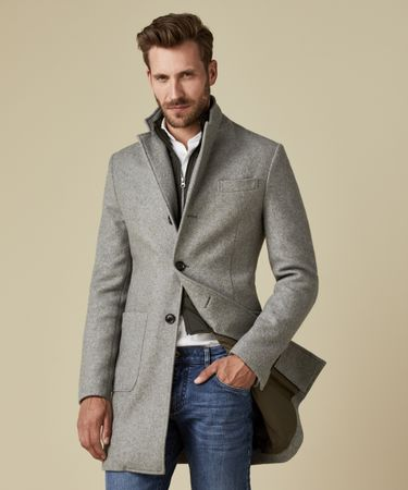 OUTERWEAR WOOL COAT GREY