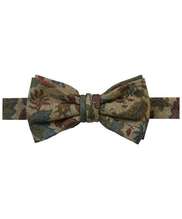 BOWTIE SILK COTTON PRINT GREEN