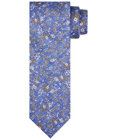 TIE SILK PRINT ROYAL