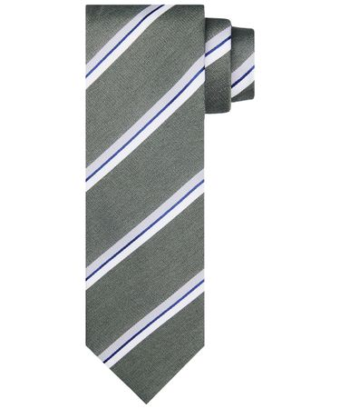 TIE SILK WOVEN ARMY