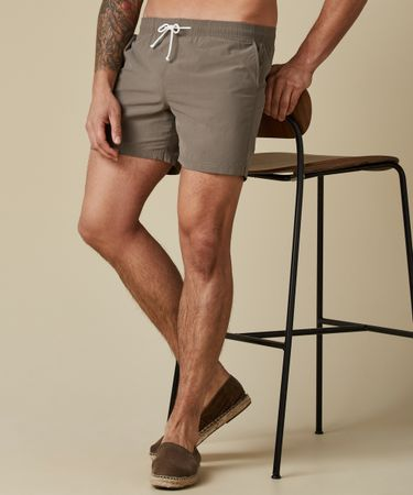 SWIMSHORT SOLID TAUPE