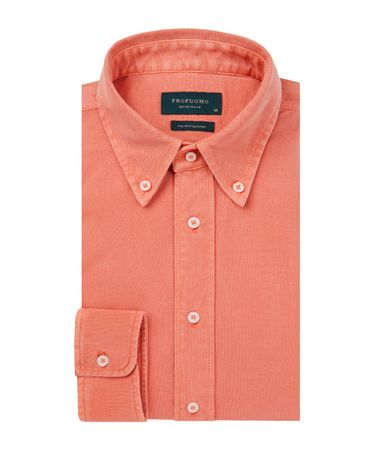 SHIRT BUTTON DOWN SC SF ORANGE