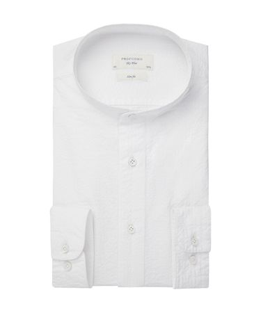 SHIRT GRANDAD COLL SC SF WHITE