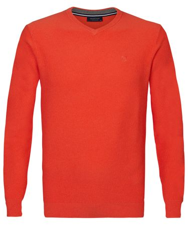 PULLOVER V-NECK BRIGHT ORANGE