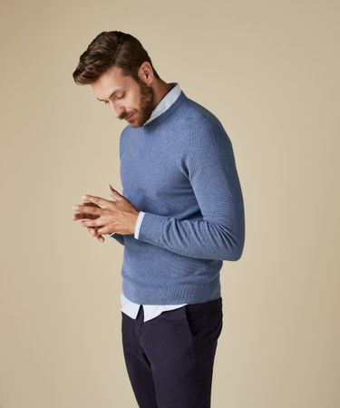 PULLOVER V-NECK DENIM