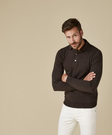 POLO LONGSLEEVE BROWN