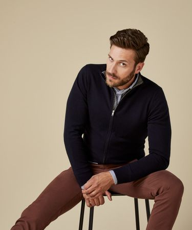CARDIGAN ZIP NAVY