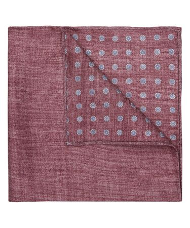 HANKY SILK PRINT RED
