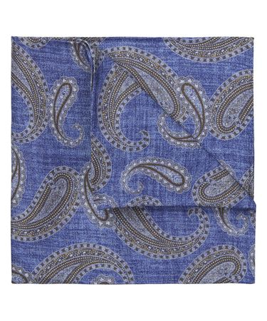 HANKY SILK PRINT ROYAL