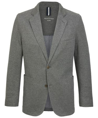 Green-grey knitted jacket