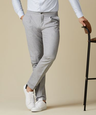 TROUSER STRIPE SPORTCORD GREY
