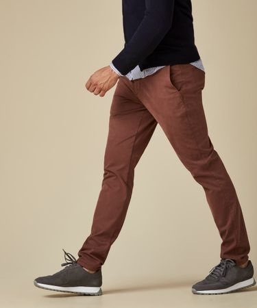 TROUSER GD SF CHINO BURGUNDY