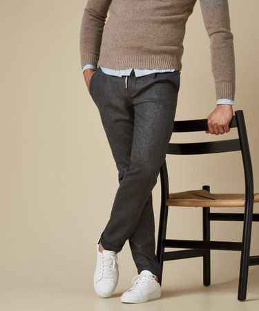 TROUSER SPORTCORD MID GREY