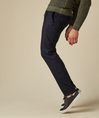 TROUSER SPORTCORD STRIPE NAVY