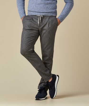 TROUSER SPORTCORD STRIPE GREY