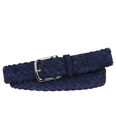 BELT BRAIDED SUEDE BLUE