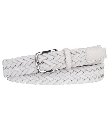 BELT BRAIDED SUEDE GREY