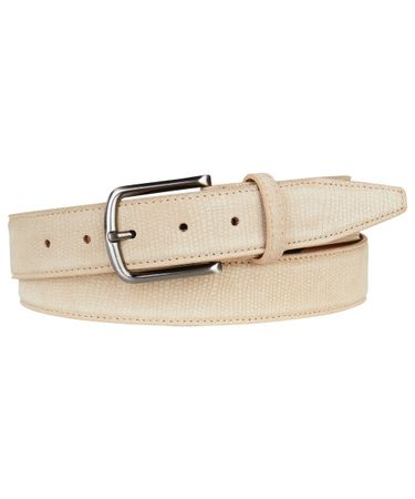 BELT SUEDE EMBOSSED BEIGE