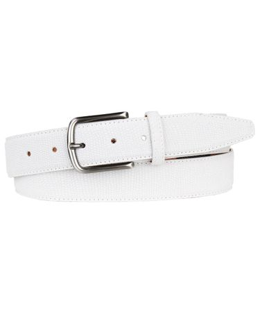 BELT SUEDE EMBOSSED WHITE