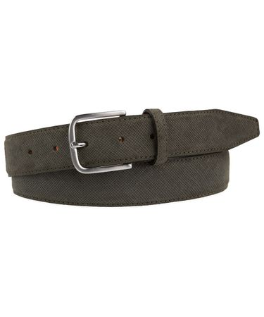 BELT SUEDE EMBOSSED TAUPE