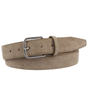 BELT SUEDE EMBOSSED BROWN
