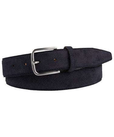 BELT SUEDE EMBOSSED NAVY