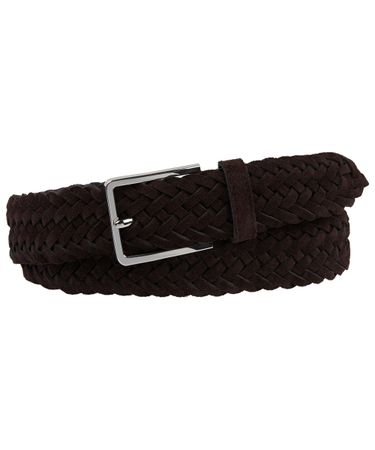 BELT HANDBRAIDED SUEDE BROWN