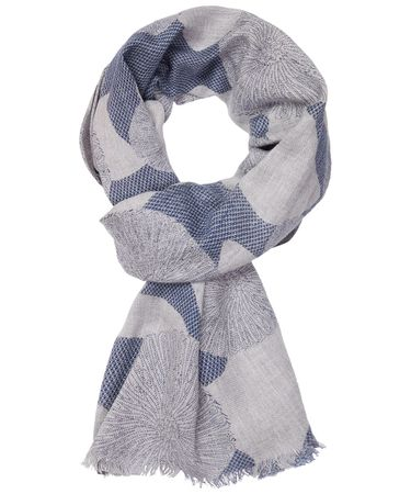 SCARF PRINTED GREY
