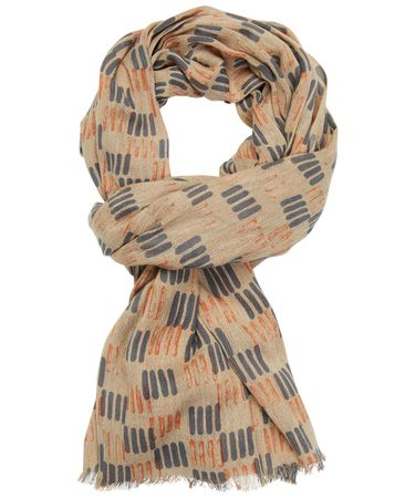 SCARF PRINTED ANTHRA ORANGE