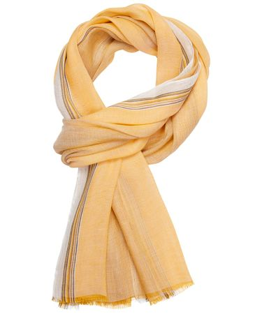 SCARF WOVEN YELLOW