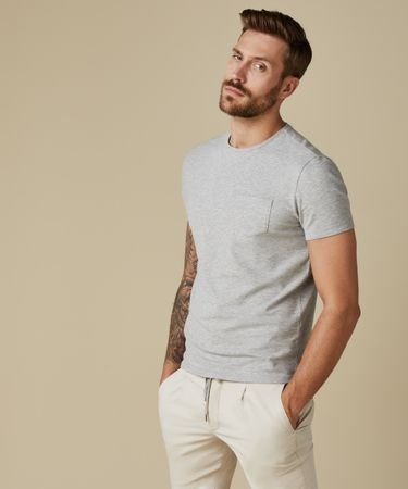 T-SHIRT SHORT SLEEVE GREY MEL