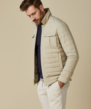DOWN SHIRT JACKET BEIGE