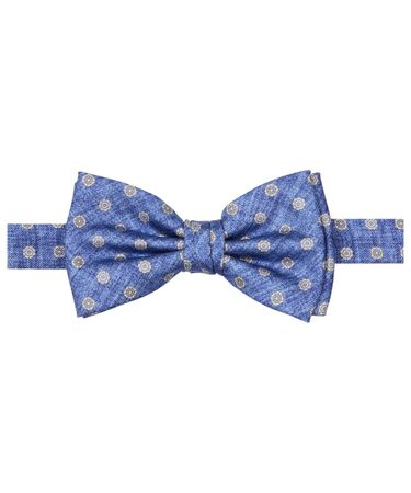 BOWTIE SILK PRINT ROYAL
