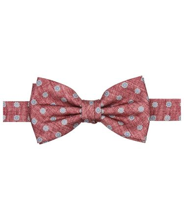 BOWTIE SILK PRINT RED