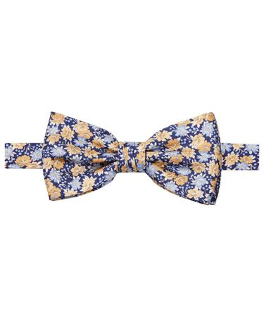 BOWTIE SILK PRINT YELLOW