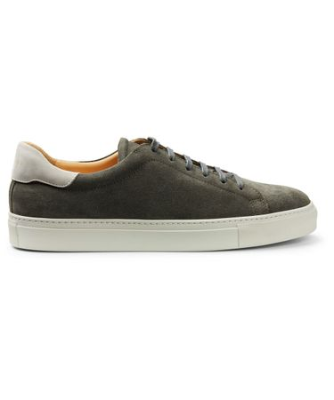 Army suede sneakers