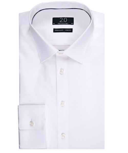 We Slim Fit Overhemd.Profuomo White Super Slim Fit Stretch Shirt Shirts