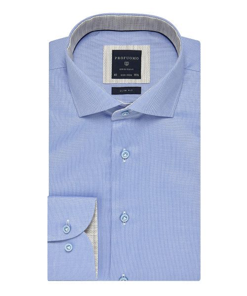 Overhemd Strijkvrij.Profuomo Light Blue Non Iron Oxford Shirt Shirts