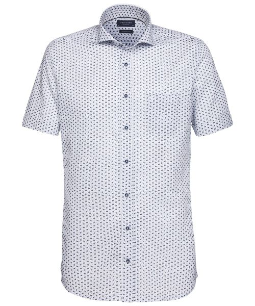 T Shirt Overhemd.Profuomo White Knitted Shirt With Blue Details Shirts